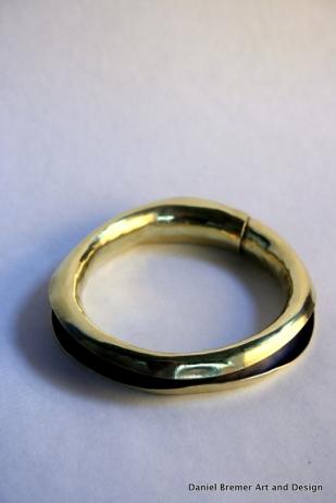 Anticlastic bangle; brass