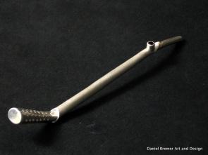 Matte Bombilla; sterling silver