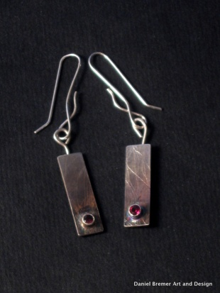 earrings; sterling silver