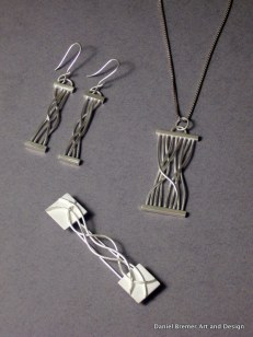 Twisted Series; sterling silver