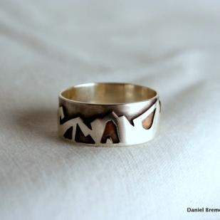 Rossland range ring; sterling silver